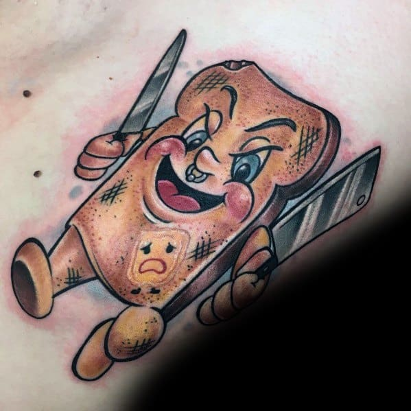 Male Toast Themed Tattoos