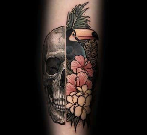 Male Toucan Tattoo Design Inspiration