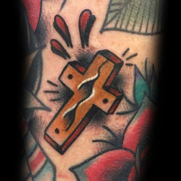 Male Traditional Cross Tattoo Ideas