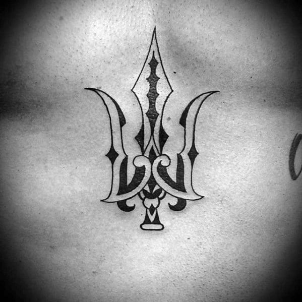 40 Trident Tattoo Designs For Men - Neptune Ink Ideas