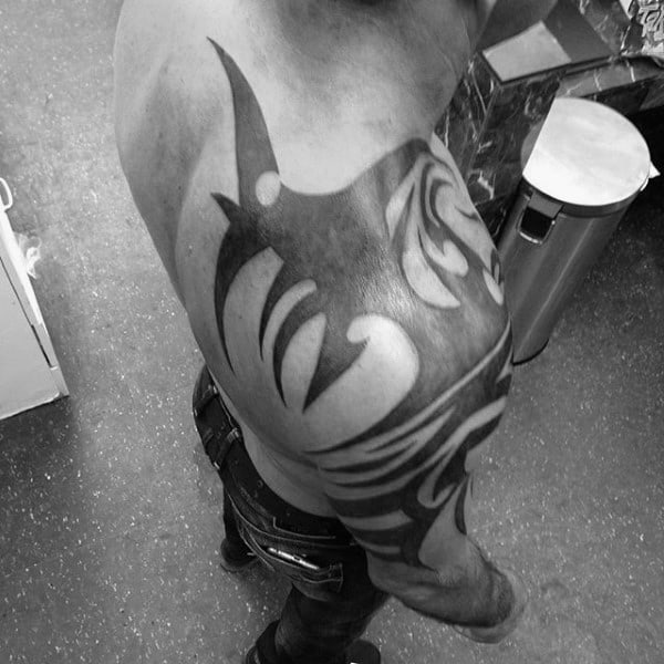 Male Tribal Tattoos Back