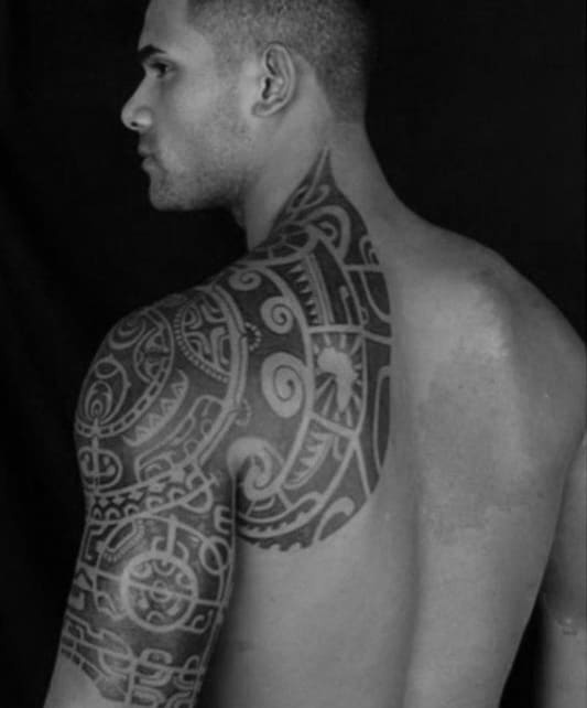Male Tribal Tattoos On Back