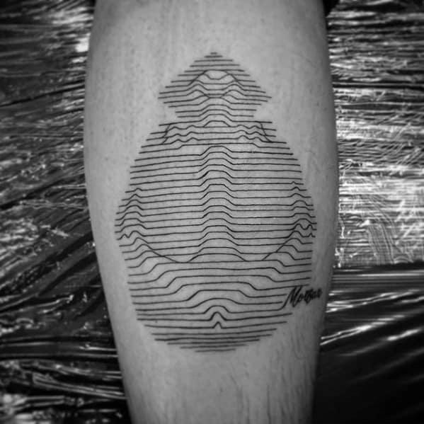 Male Trippy Tattoo Design Inspiration