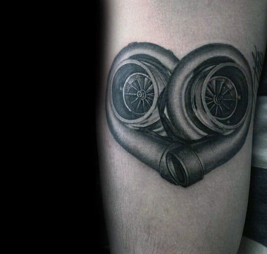 Male Turbo Themed Tattoos
