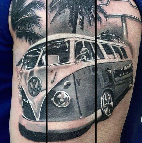 Male Volkswagen Wv Tattoo Ideas