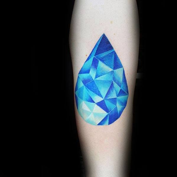 Male Water Drop Tattoo Design Inspiration