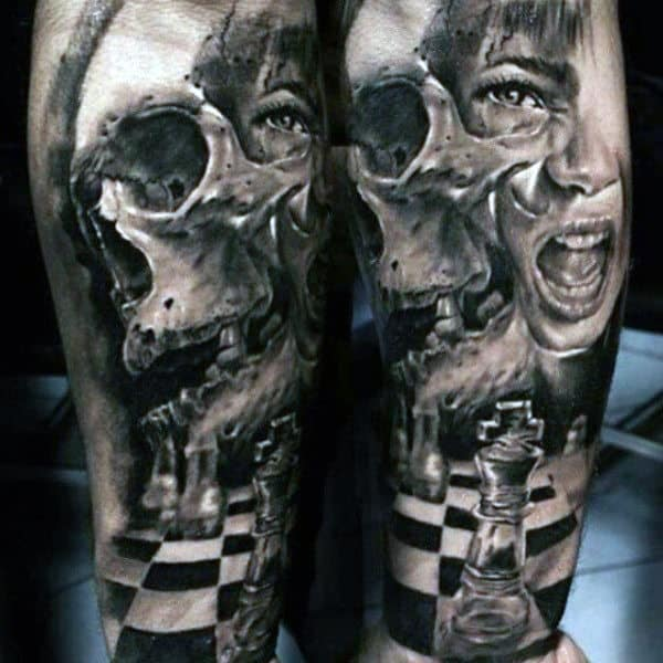 Male With 3D Tattoo
