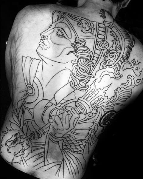 Male With Athena Tattoos