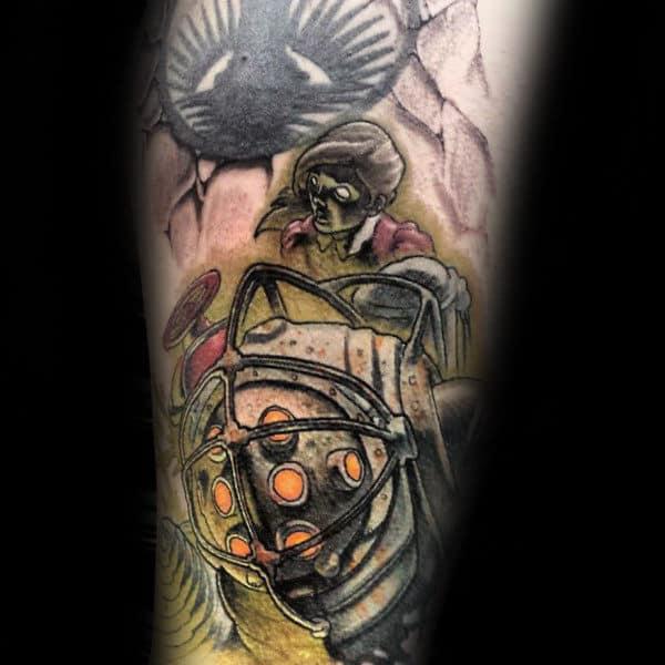 50 bioshock tattoo designs for men - video game ink ideas
