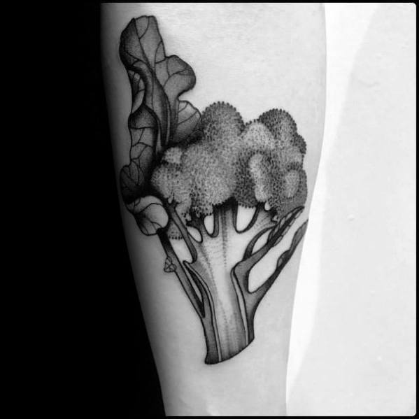 Male With Broccoli Tattoos