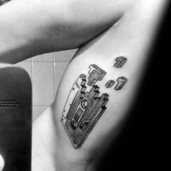Cassette And Headphones Tattoo