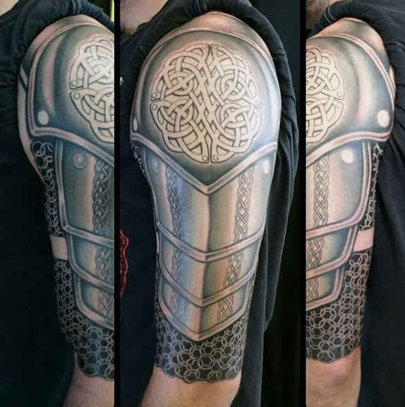2811efeec Top 90 Best Armor Tattoo Designs For Men - Walking Fortress