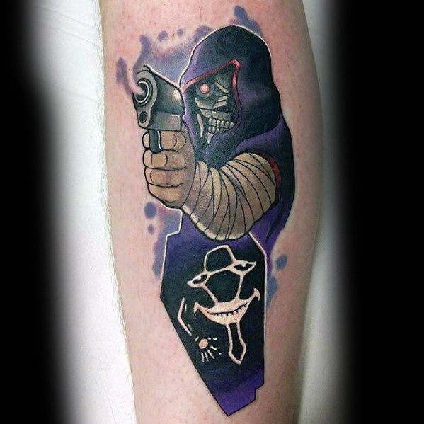 Male With Cool Anime Inner Forearm Tattoo Design