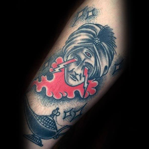 30 Genie Lamp Tattoo Designs For Men
