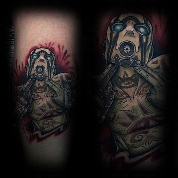 Male With Cool Borderlands Tattoo Design