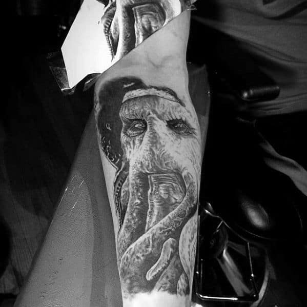 Male With Cool Davy Jones Inner Forearm Tattoo Design