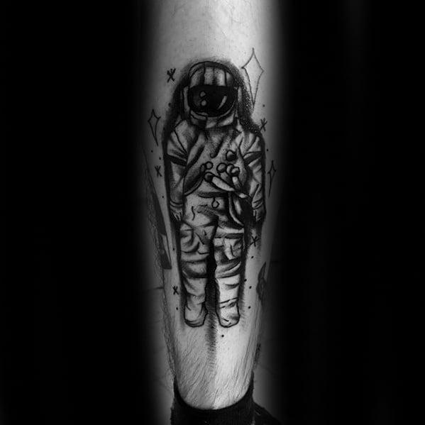 Male With Cool Deja Entendu Tattoo Design
