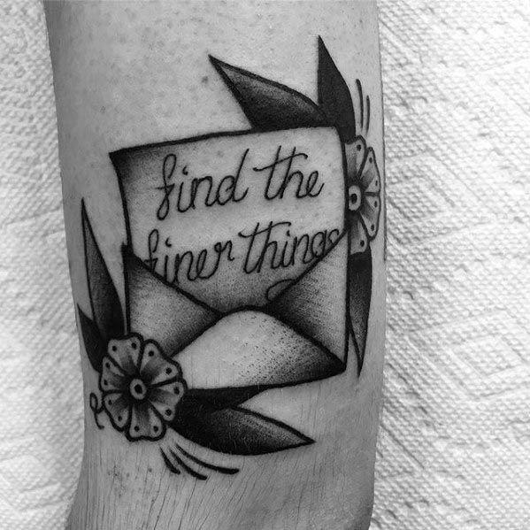 30 Envelope Tattoo Designs For Men Mail Ink Ideas