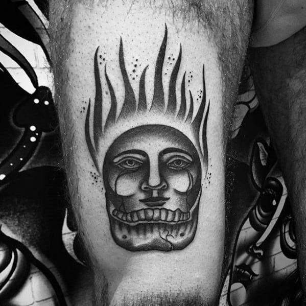Male With Cool Esoteric Tattoo Design