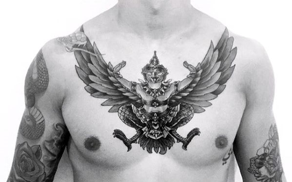 Male With Cool Garuda Tattoo Design