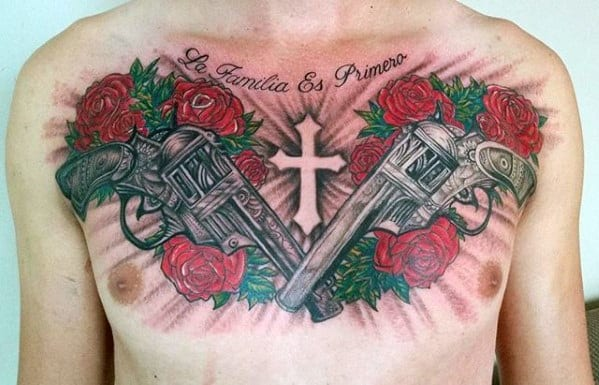 40 guns and roses tattoo designs for men hard rock band ink ideas. Black Bedroom Furniture Sets. Home Design Ideas