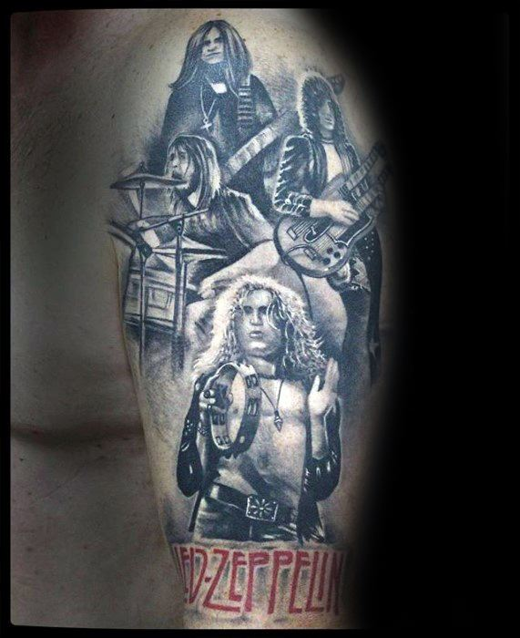 Male With Cool Led Zeppelin Tattoo Design