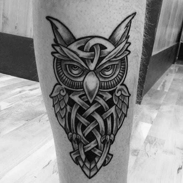 Tattoo Designs For Men: 30 Celtic Owl Tattoo Designs For Men