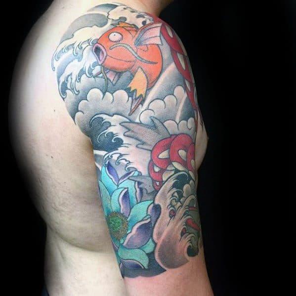 30 magikarp tattoo designs for men pokemon fish ideas. Black Bedroom Furniture Sets. Home Design Ideas