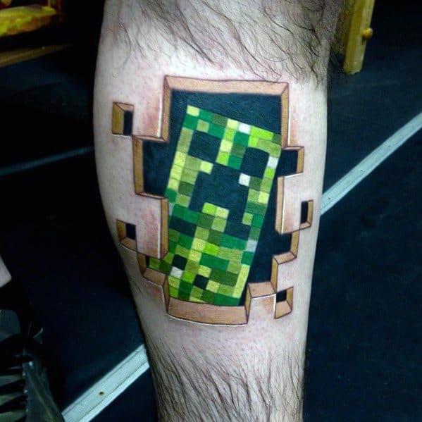 30 Minecraft Tattoo Designs For Men Sandbox Video Game Ideas