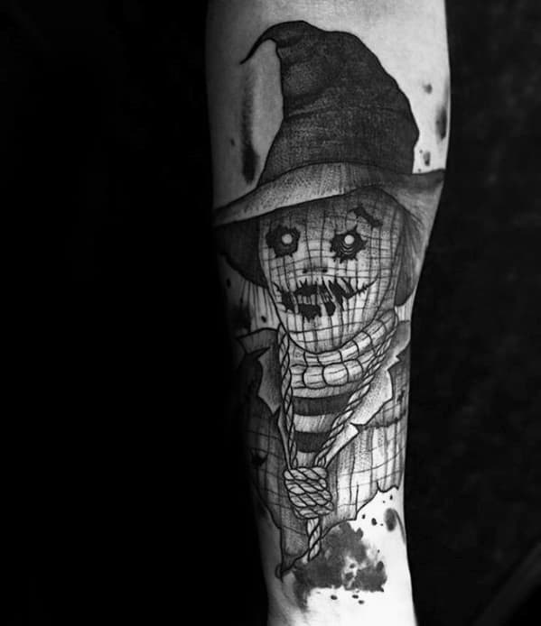 Male With Cool Scarecrow Tattoo Design