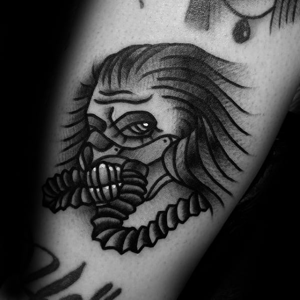 Male With Cool Small Old School Traditional Arm Mad Max Tattoo Design