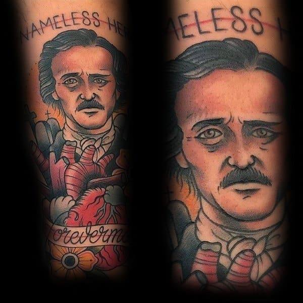 Male With Edgar Allan Poe Tattoos