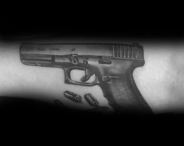 Male With Glock Tattoos