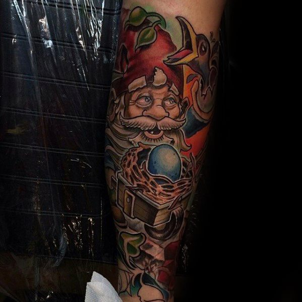 Male With Gnome Tattoos