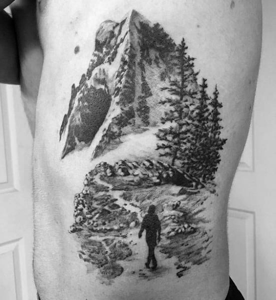 Male With Hiking Tattoos