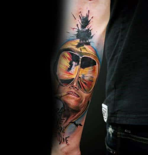 Male With Hunter S Thompson Tattoos