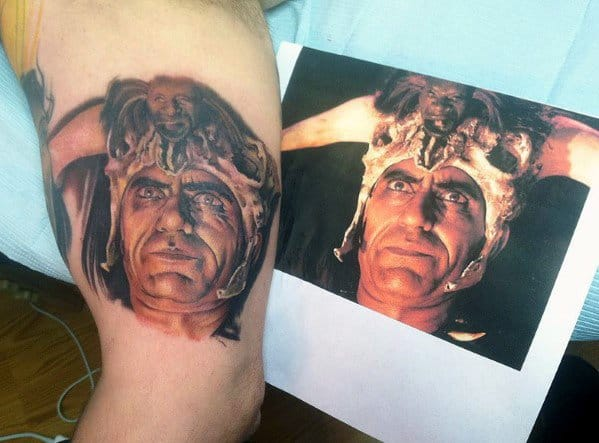 Male With Indiana Jones Tattoos