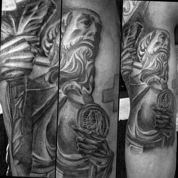 Male With Leg St Jude Religious Tattoo