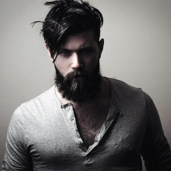 Male With Manly Beard Style