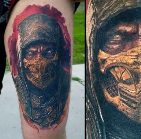 mortal kombat scorpion spear tattoo