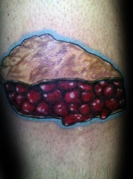 Male With Pie Tattoos