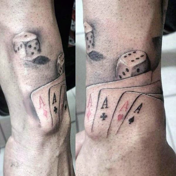 Male With Playing Card Wrist Tattoo