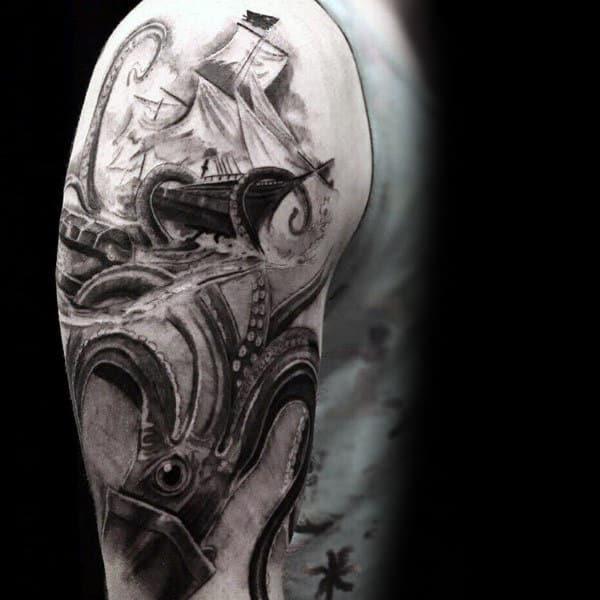 100 Kraken Tattoo Designs For Men  Sea Monster Ink Ideas