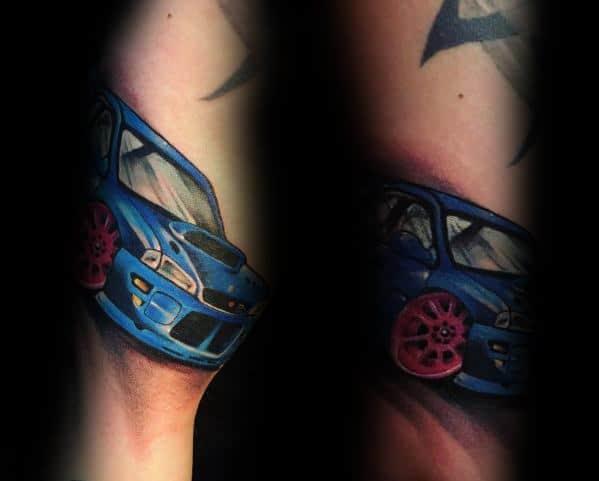 Male With Subaru Tattoos