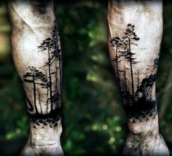 100 forest tattoo designs for men masculine tree ink ideas for Birch tree tattoo meaning