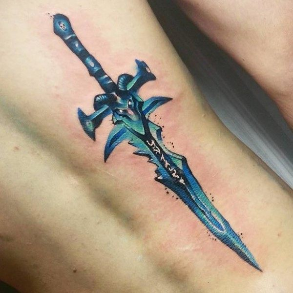 Male With World Of Warcraft Tattoos
