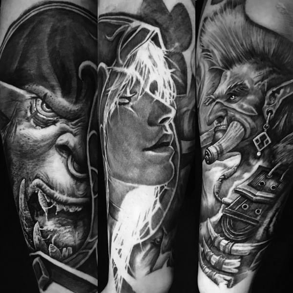Male World Of Warcraft Themed Tattoos