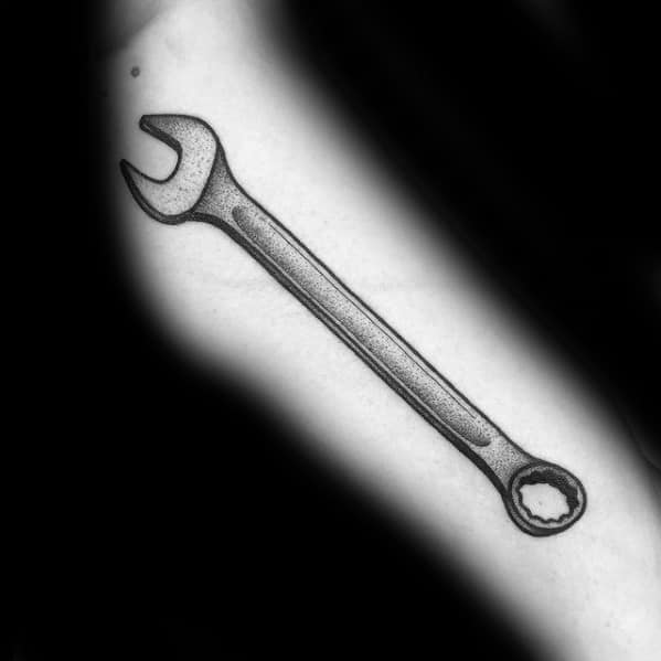 Male Wrench Tattoo