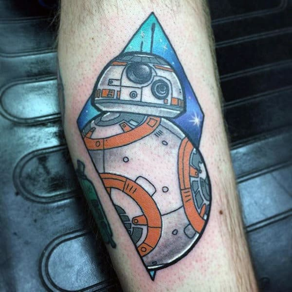 Males Starwars Tattoo On Forearms