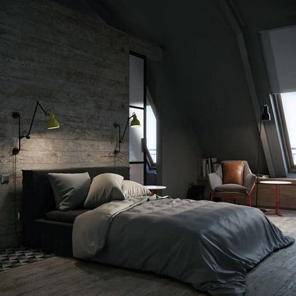 80 Bachelor Pad Men's Bedroom Ideas - Manly Interior Design on Guys Small Bedroom Ideas  id=59886